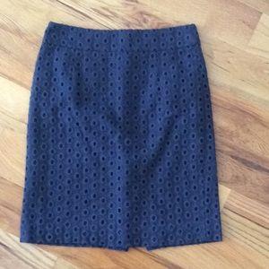 J. Crew eyelet pencil skirt